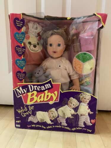 MGA My Dream Baby Interactive Doll 2000 New Vintage Rare Watch Her Grow Up