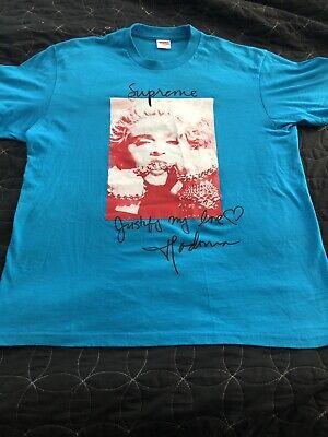 Supreme FW 18 Madonna T-Shirt Sz Medium Bright Blue*Worn 1x