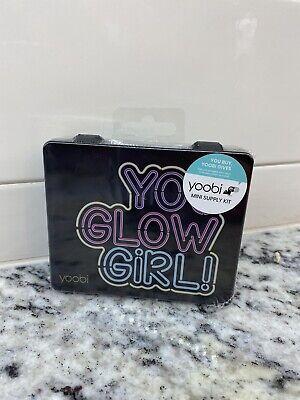 Yoobi Mini Desk Supply Kit You Glow Girl Black Case Wpink Supplies Sealed New