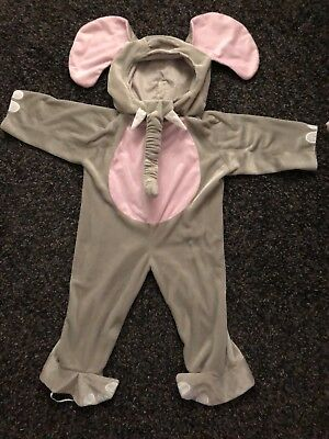 Toddler Cuddly Elephant Animal Costume 3T-4T used - 3t Elephant Costume