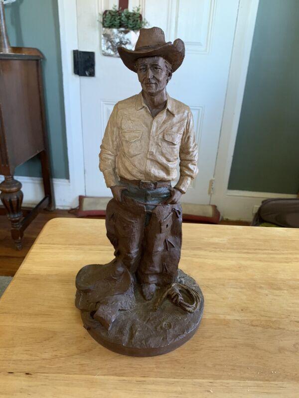 "Tom Clark American Cowboy 1983 Hand Signed 12"" Tall Figure"