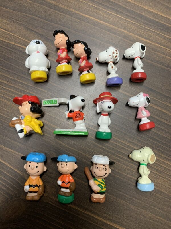 Peanuts Snoopy 13 Rare Pencil Toppers Vintage