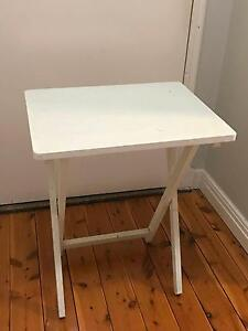 White fold-up table side table Darling Point Eastern Suburbs Preview