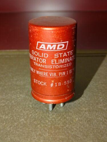 AMD Solid State Transistorized Vibrator/Eliminator for Radio, 4-Pin, Good