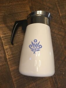 Vintage Corning Cornflower coffee pot