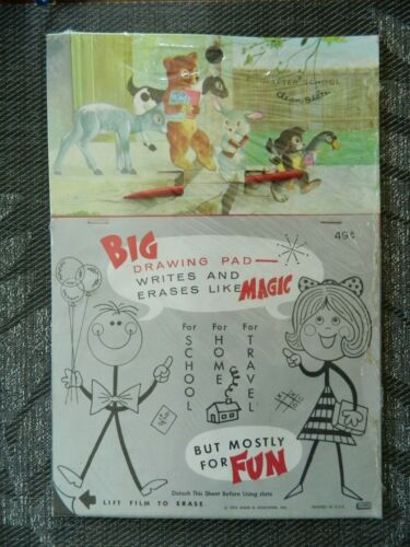 Vintage 1974 James & Jonathan After School Clean Slate Big Drawing Pad Toy New
