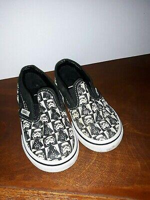 Star Wars Vans Darth Vader Stormtrooper Toddler Boys Girls Shoes Size 6