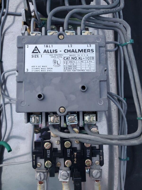 Allis Chalmers Size 1 Motor Starter / Contactor