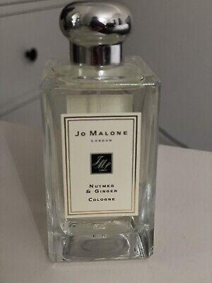 Jo malone Nutmeg & Ginger perfume 100ml Used Twice