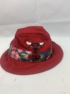 Hardwood Classics New Era Red Bucket Hat Chicago Bulls Windy City Size Large