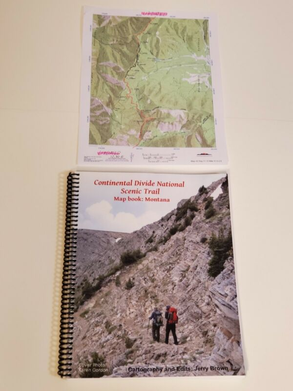 Jerry Brown Continental Divide Trail Color Map book MONTANA by Bear Creek Survey