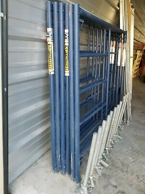 Metaltech Scaffold Set Exterior Use With Level Jacks Cross Brace And 2 Planks