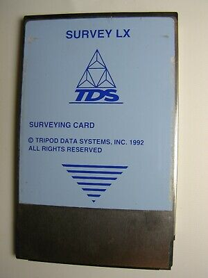 Tds Survey Lx Surveying Card For The Hp 200lx Pc