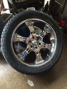 "F-150 22"" rims and tires"