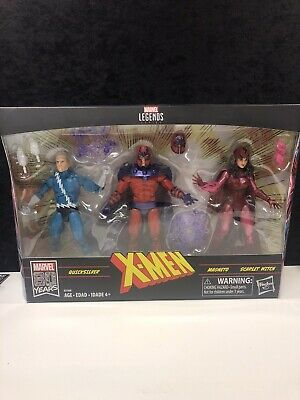 Marvel Legends XMEN QUICKSILVER/MAGNETO/SCARLET WITCH 3 PACK *SHIPS LOOSE*