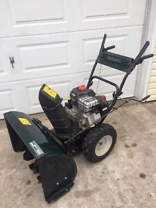 "Yard machines 28"" self propelled duel stage snowblower"