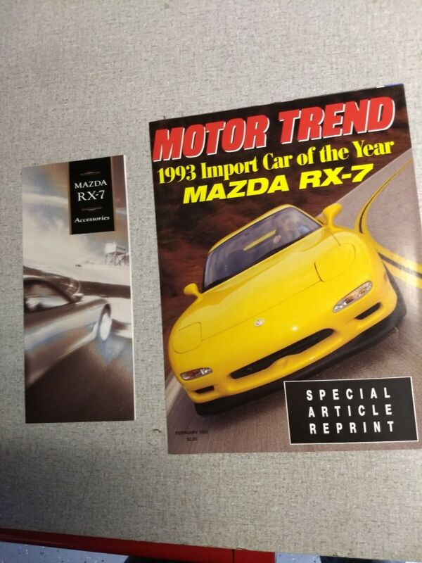 1993 1994 Mazda RX7 Brochure RARE Turbo NOS RX-7 accessories Motor Trend test
