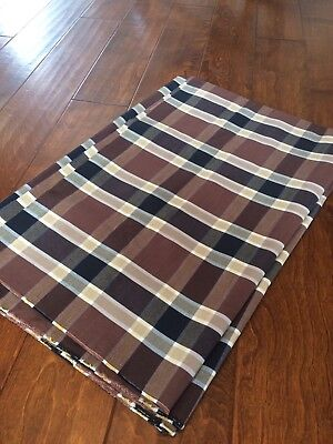 Brown Plaid Upholstery Fabric  4 Yards x  56
