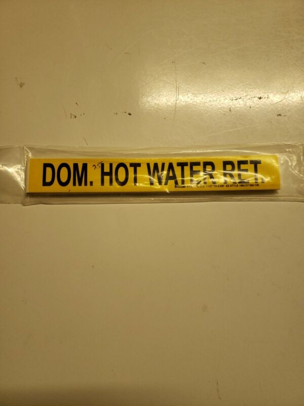 Domestic Hot Water Return Pipe Markers