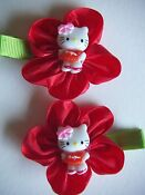 Hello Kitty Bow Hair Clip