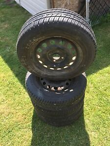 """14"""" Steel Rims and M&S Toyo Tires"""