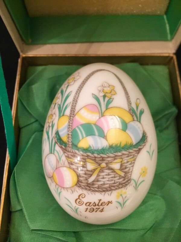Vtg Noritake Easter Egg 1974 Fourth Edition In Original Box