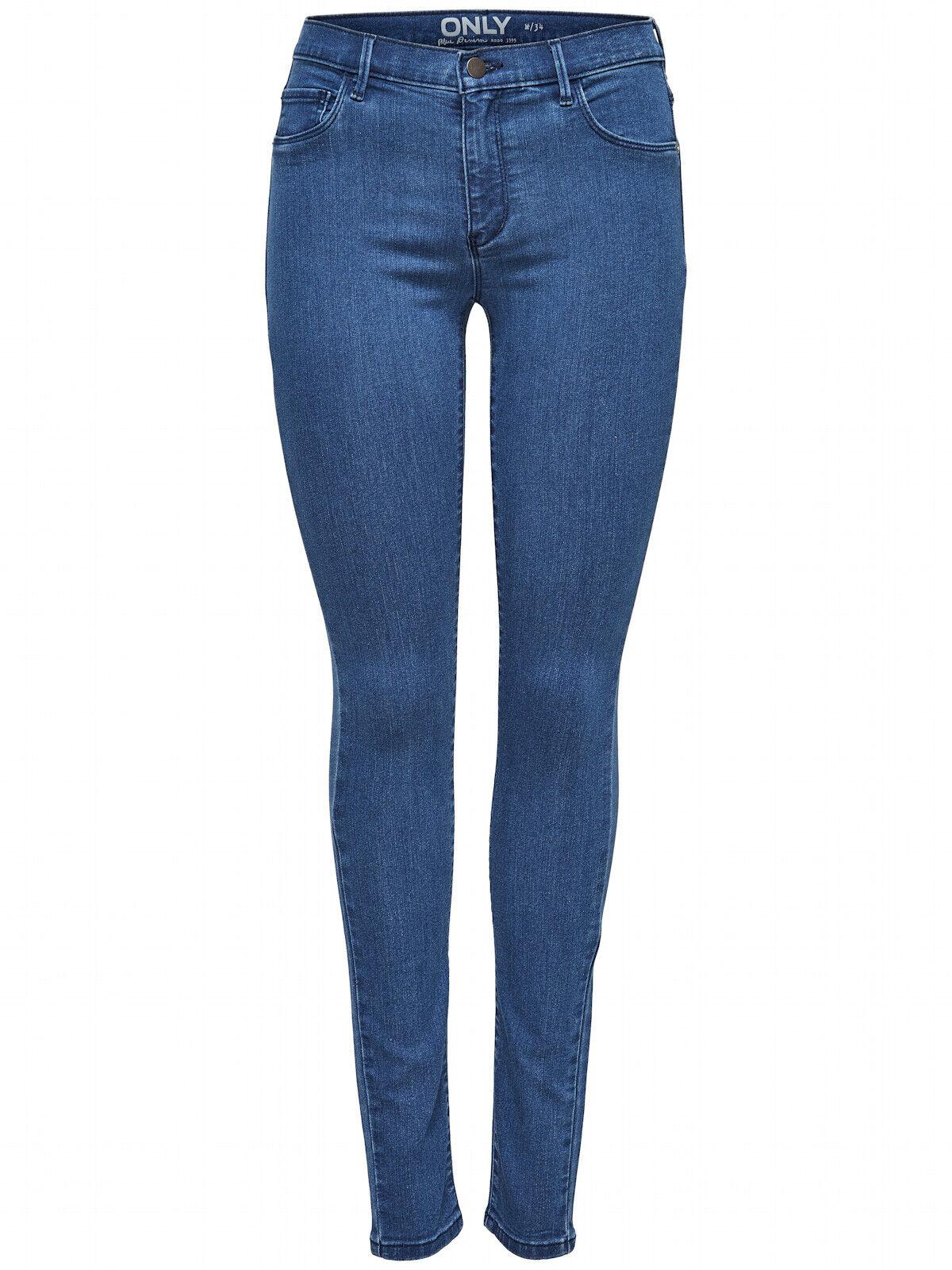 Only Damen Hose onlRain Skinny Jeanshose Hüftjeans Damenjeans Röhrenjeans blue