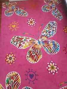 Pink Butterfly Turkish Floor Rug Bankstown Bankstown Area Preview