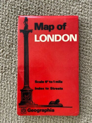 Vintage Map of London by Geographia with Street Index