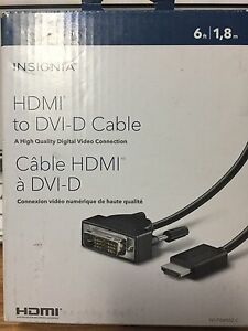 Insignia HDMI to DVI-D cable.  6ft long