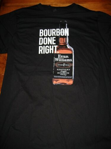 Evan Williams Bourbon T-Shirt. New. Black in color.