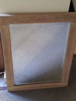 Antique vintage bevelled mirror Hope Island Gold Coast North Preview