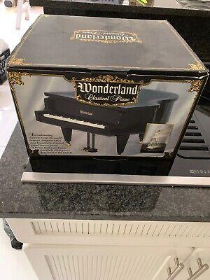 VINTAGE WONDERLAND BLACK GRAND PIANO MUSIC BOX ASSORTED CLASSIC TUNE BALLERINA (Black Classic Grand Piano)