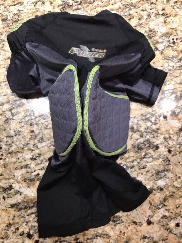 Ridell Power Youth Football Padded COMPRESSION Shirt - Size Youth Medium