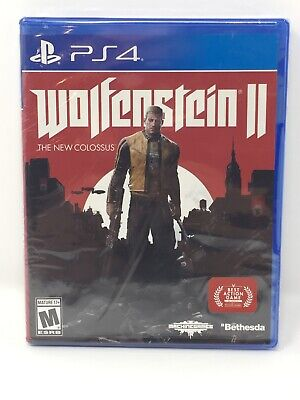 PS4 Wolfenstein II 2 The New Colossus (Sony PlayStation 4 2017) Brand New Sealed