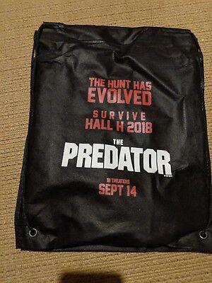 SDCC 2018 The Predator Panel Swag Drawstring Bag Seat Cushion & Poster Lot Set