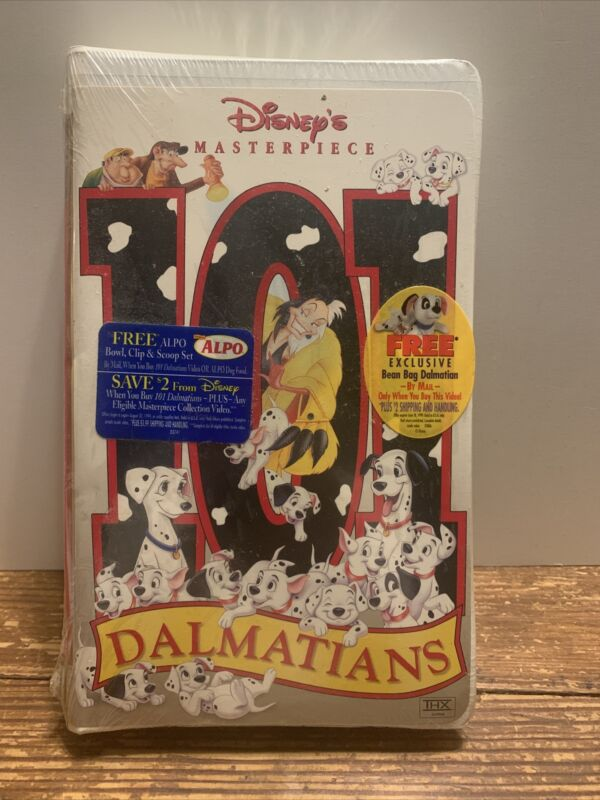 101 Dalmatians (VHS, 1999) masterpiece collection. original package.