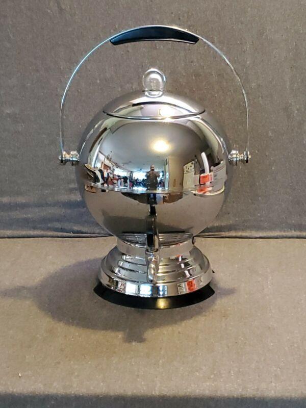 Vintage Manning Bowman Globe Style Art Deco Coffee Maker Percolator