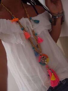 NEU Kette TREND BLOGGER MUSTHAVE ETHNO indianer schmuck Hippie chic Ibiza