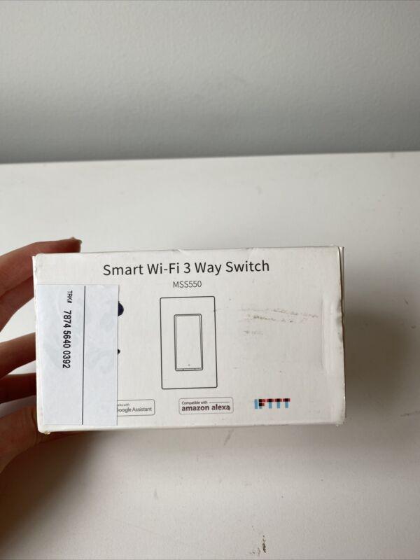 Meross Smart WiFi 3 Way Light Switch MSS550 work w/ Alexa, Google Assistant