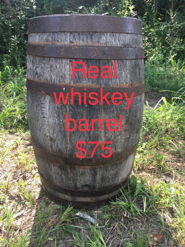 Wooden brown whiskey barrell