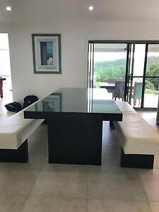 Glass top dining table Pacific Pines Gold Coast City Preview