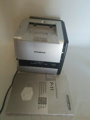 Olympus P-11 Digital 4x6 Photo Thermal Printer Digital with a manual and cable -