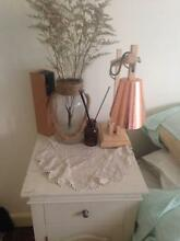 White wooden bedside table Bondi Beach Eastern Suburbs Preview