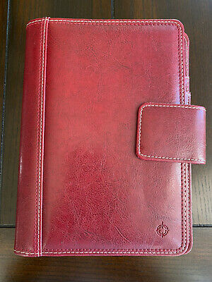 Franklin Covey Magnetic Leather Planner Red