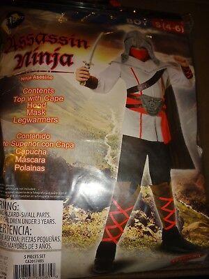 Assassin Ninja Halloween Party Cosplay Costume Child Boys Sz S 4-6 Free Ship (Assassin Kids Costume)