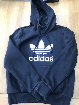 Ladies Size 10 Adidas Jumper Black White Genuine