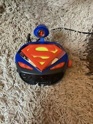 SUPERMAN Kid Station Toys Superman ALARM AM/FM Projection Clock Radio Preowned
