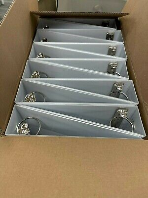 12 Pack Quill 2 Inch Locking 3 Ring White View Binder