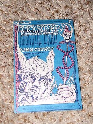 Bill Graham 144 Postcard Ad Back Grateful Dead Quicksilver Messenger 1968